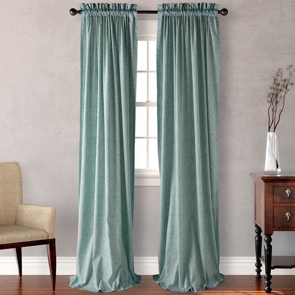 Captivating Tommy Bahama Damask Tropical Curtain Panel (Pair)