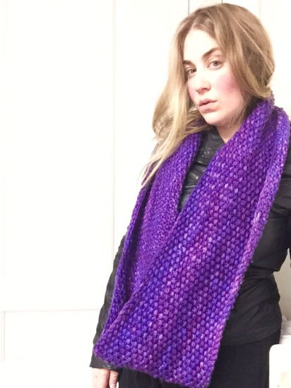 Radiant Orchid Cowl