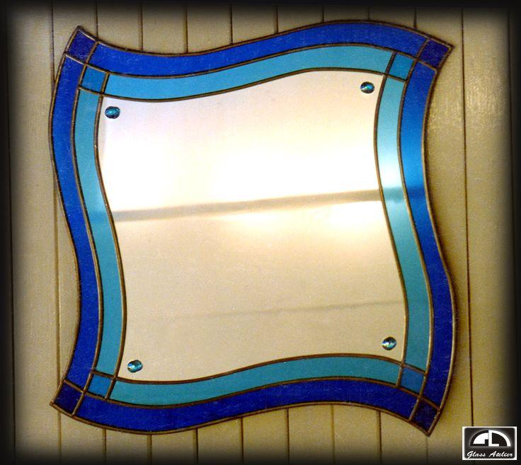 #www.glassatelier.pl #witraż #lustro