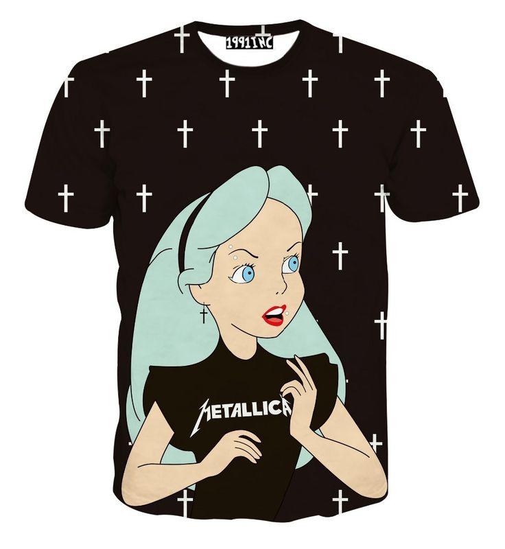 Harajuku Nouveau Hommes Femmes Alice 3d T Chemise de Bande Dessinée de Neige blanc Princesse Imprimé t shirts Fille D'été T Casual Tops Clothing 5XL dans T-Shirts de Femmes de Vêtements et Accessoires sur AliExpress.com | Alibaba Group