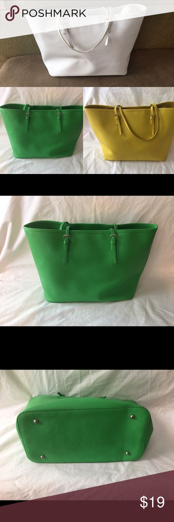 Large Green Tote Bag Large green, summer, fun tote bag. Fits all your goodies in one bag! Comes in three colors. Sold separately. Bags