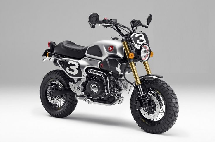 Honda Showed The First Photos Of Their Two Grom 50 Scrambler Concepts That Look Better Than