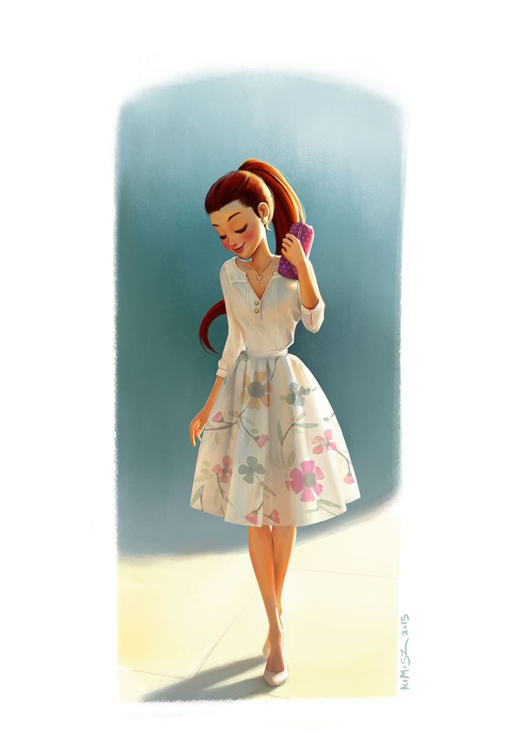 Spring Girl, Felipe Kimio on ArtStation at https://www.artstation.com/artwork/spring-girl-1181c213-47b2-4c0b-b195-d3c6195a8a86