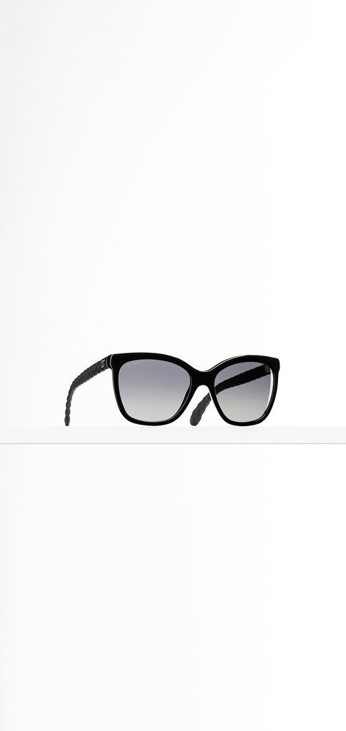 CHANEL Butterfly Acetate sunglasses with Quilted rubber temples and metal CC signature $420