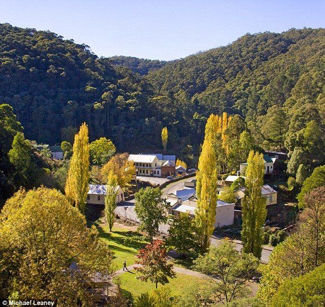 Pure gold: Walhalla was once an expansive town but now just 20 people live there full time. Walking through the centre still has the feel of gold rush era. Victoria Australia