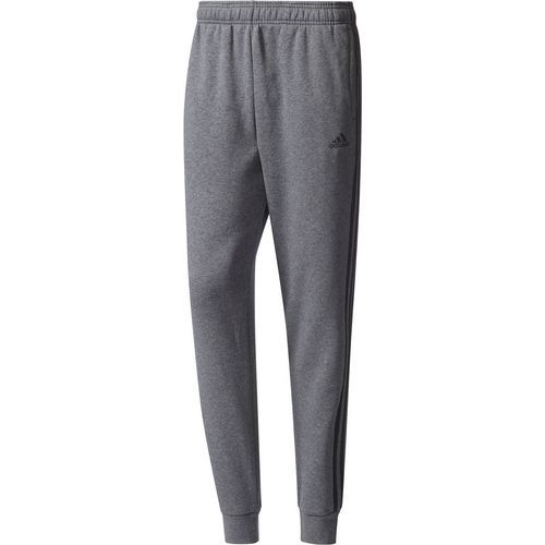 Adidas Men's Essentials 3S Tapered and Cuffed Pant (Dark Grey, Size Large) - Men's Athletic Apparel, Men's Athletic Core Bottoms at Academy Sports