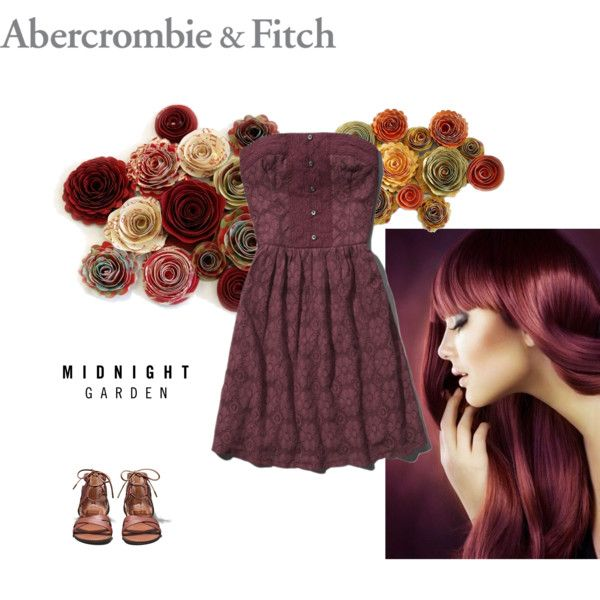 """Inspired by Midnight Garden: Abercrombie & Fitch Contest Entry"" by bazso-adrien on Polyvore"
