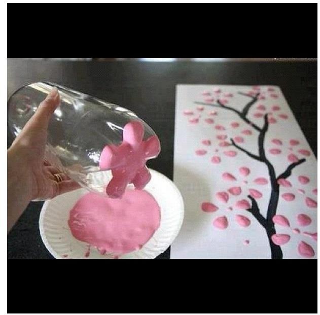 Cute plastic bottle art