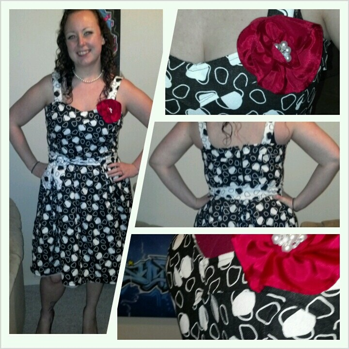My second dress and first applique rose/poppy heavy weight fabric and tottaly awesome!! More clothing coming soon!! #twelfthletterapparel
