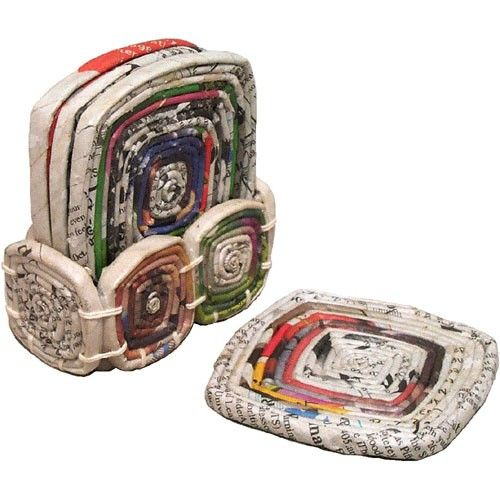 Recycled Paper Coasters - Coasters, Hot Mats and Trivets - Tabletop - Products