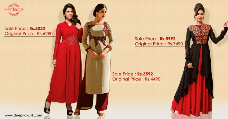 When in doubt, shop for #red dress.  #MerryMondaySale is back. Buy the designer ethnic wear exclusively from #DeepkalaSilk and get upto 40% off! 1st product -> http://goo.gl/pwBfXA 2nd product -> http://goo.gl/hHyQOB 3rd product -> http://goo.gl/N5y3ZV