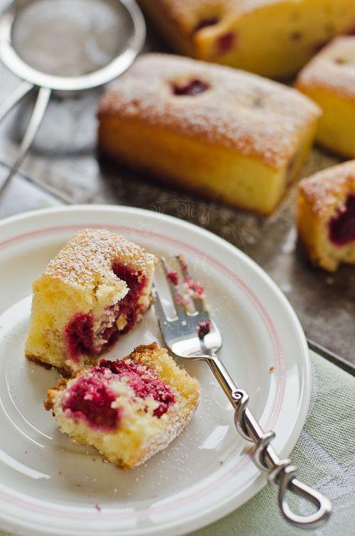 Raspberries, Lemon and Olive oil Teacake