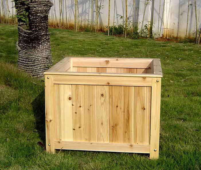 33 best images about wood planter tree box on pinterest for Wooden planters how to make