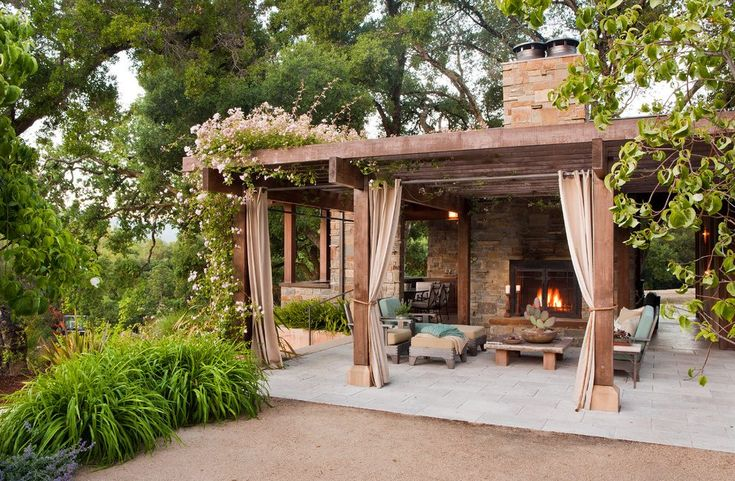 outdoor covered patio patio mediterranean with stone exterior traditional freestanding stoves