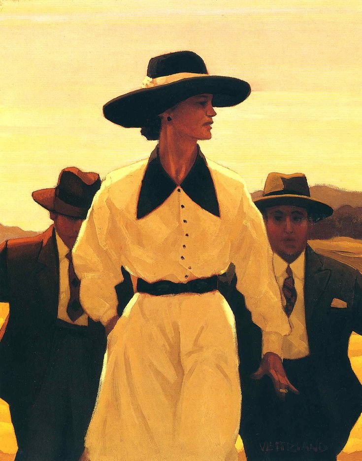 Jack Vettriano - Woman Pursued