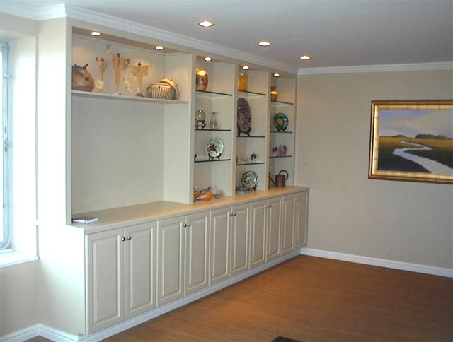 Built In Shelves And Cabinets ~ Images of wall mounted tv with built in cabinets custom