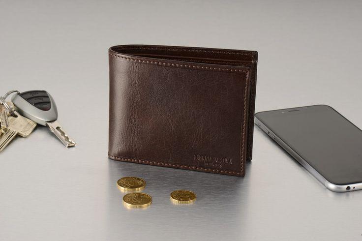 Geldbörsen - Leder Geldbeutel Braun Herren Brieftasche klein - ein Designerstück von FERDINAND-SABAC-Ledertaschen-Geldboersen bei DaWanda