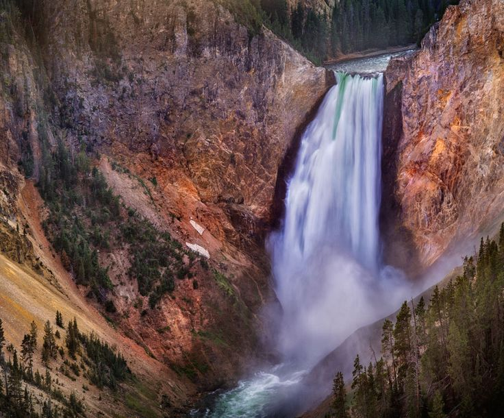 Photograph Lower falls view, Grand Canyon, Yellowstone National Park by Ignacio Palacios on 500px