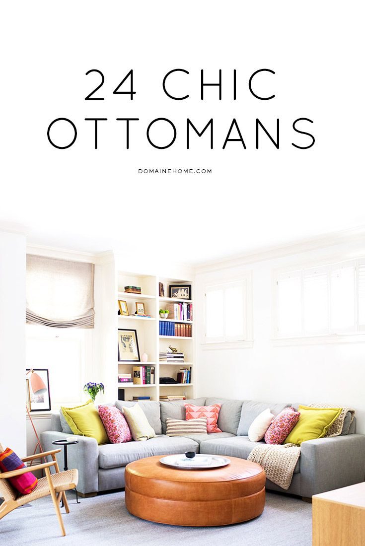 The chicest ottomans for your living room