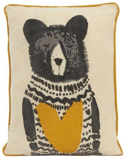 print & pattern, bear, heart, cushion, design, print, illustration, home, decor