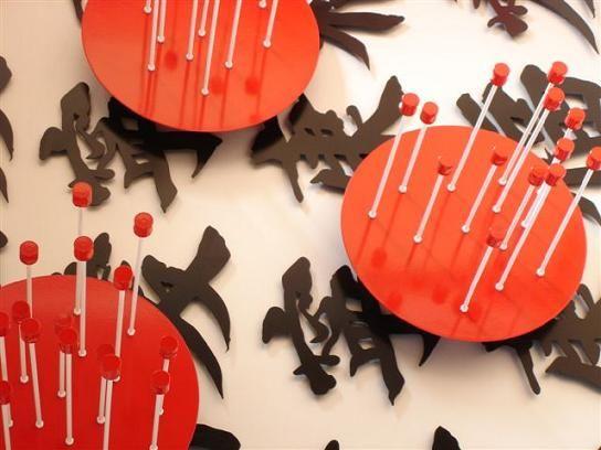 """Zen""  Artwork by Grahame Pike using mixed media. Aluminium and mild steel."