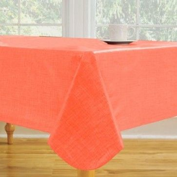 Monterey Vinyl Tablecloth in Coral - contemporary - Tablecloths - Bed Bath & Beyond @ Houzz (online) $7.99