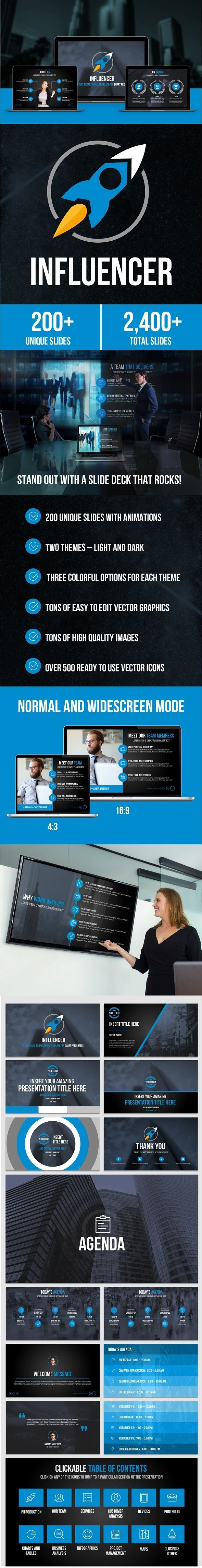 Influencer PowerPoint Presentation Template (PowerPoint Templates)