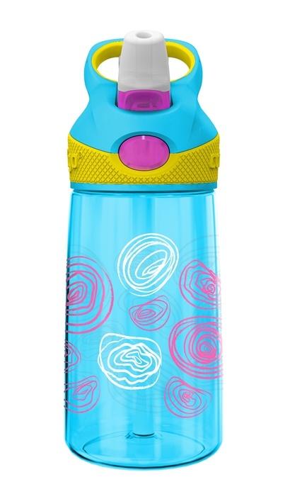 Contigo Kids Striker Autospout Bottle ~ Aqua Squiggles 400mls