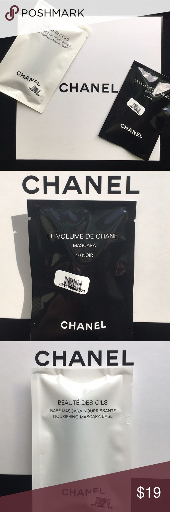 NWT! CHANEL Le Volume De Mascara & Beaute Des Cils NWT! CHANEL Le Volume De Mascara & CHANEL Beaute Des Cils Base. CHANEL Le Volume Mascara in 101 Noir 1ml/0.03oz & CHANEL Beaute De Cils Nourishing Mascara Base 1ml/0.03oz. FACTORY SEALED! Price Firm! CHANEL Makeup Mascara