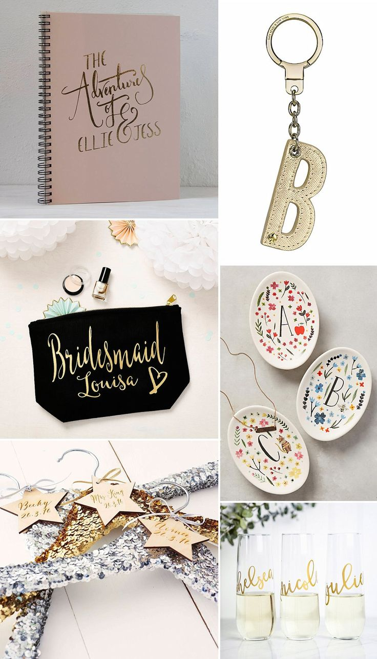 Personalised Bridesmaid Gifts | Thank You Gifts | http://www.rockmywedding.co.uk/thank-gifts-bridesmaids/
