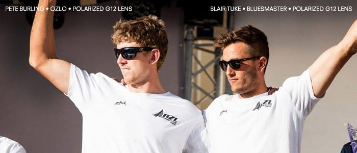 Emirates Team New Zealand Sailors, #PeteBurling and #Blair Tuke wearing #Kaenon Sunglasses. #ETNZ #Sailing