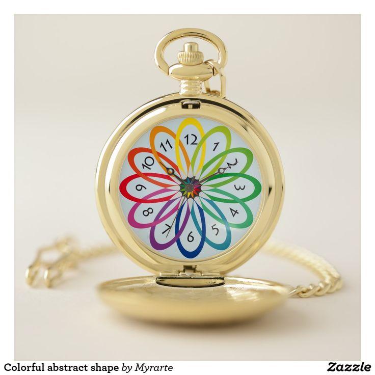 Colorful abstract shape. Producto disponible en tienda Zazzle. Accesorios, moda. Product available in Zazzle store. Fashion Accessories. Regalos, Gifts. #reloj #watch #pocket