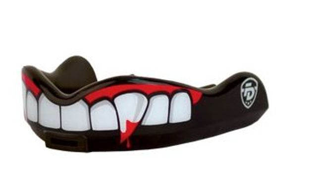 Junior Blood Thirsty - Vampire fangs with blood designed especially by Fight Dentist to fit smaller mouths of children and women. $25.00
