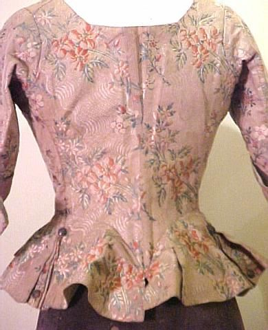 18th century silk jacket