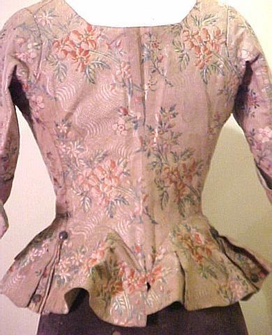 18th century silk jacket