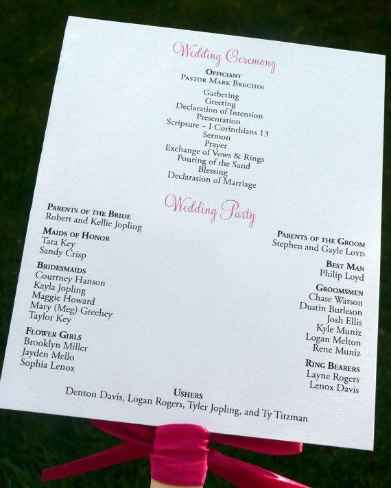 Best  Wedding Program Samples Ideas On   Wedding