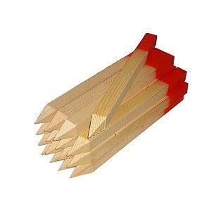 Picchetto topografico in legno 35x34x350 mm testa rossa 50pz.