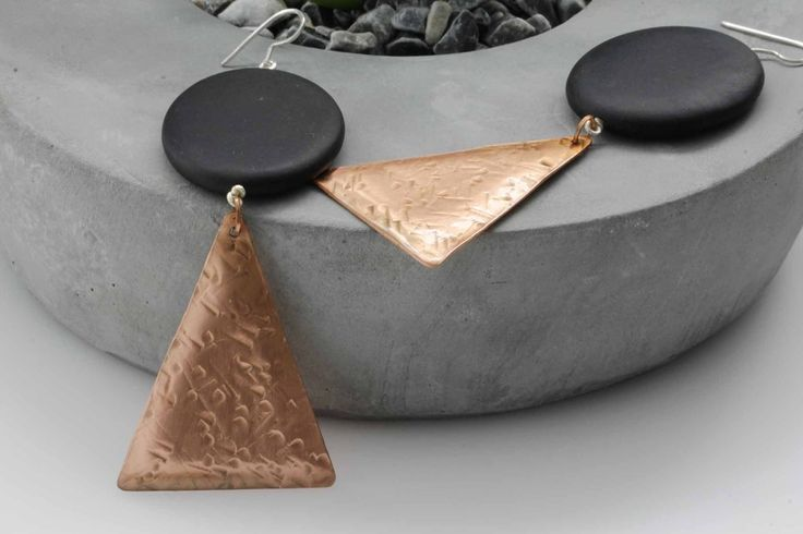 KJ-007 Copper Statement Earrings