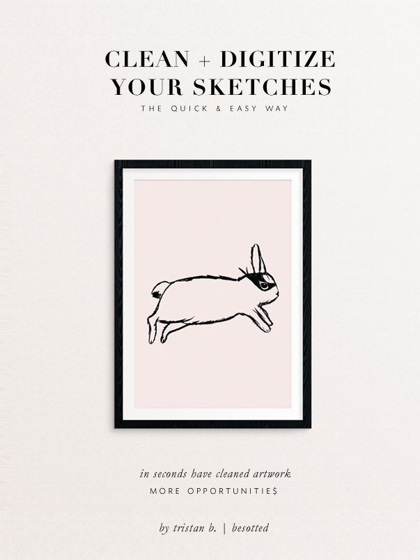 quickly clean and digitize your sketches via besotted blog