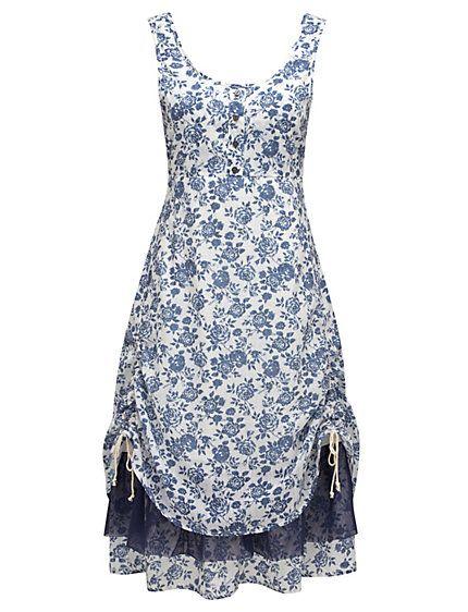 joe browns kleid weiss blau im heine online shop kaufen