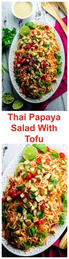 Thai Green Papaya And Tofu Salad . A light, refres…
