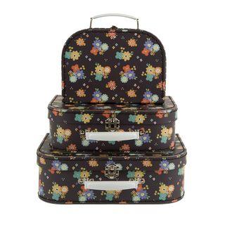 Pappkoffer Set  DAHLIA, 3tlg Kinderkoffer