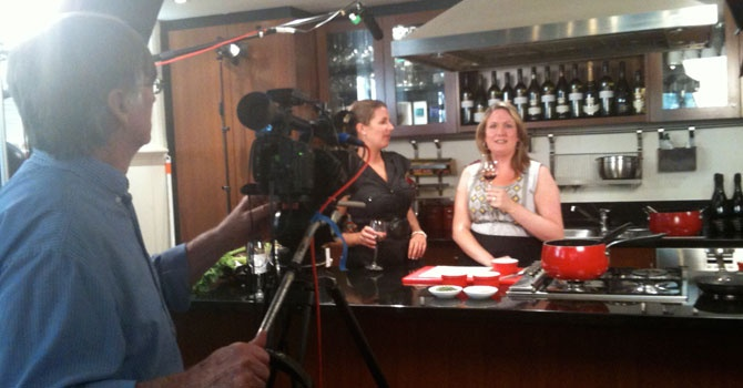 Katherine Brown chats about Brown Brothers 2008 Patricia Chardonnay and Emma Porter cooked up a storm for a film shoot.
