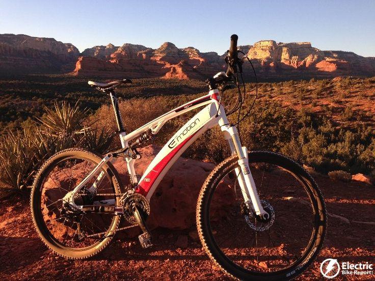 Emotion Neo Jumper full suspension electric mountain bike.