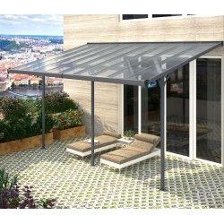 Pergola Adosada Ajustable Techo De Aluminio 3 05x5 57m X Metal En 2020 Terrasse Toit Pergola Pergola Terrasse