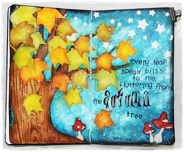 Autumn, art journal, Mixed - Media