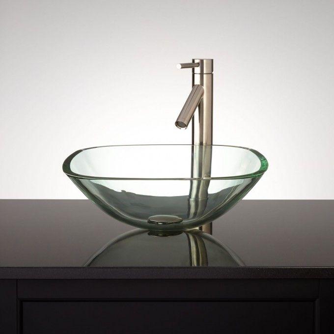 Square Glass Vessel Sink