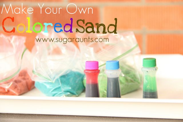 Sugar Aunts: Make Your Own Colored Sand
