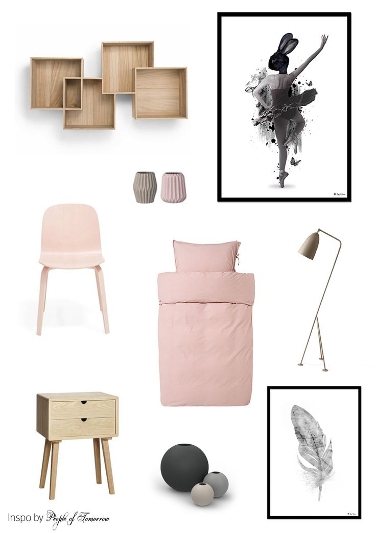 Soft pink // Prima Ballerina and Marble feather posters // People of Tomorrow // scandinavian interior // graphic design