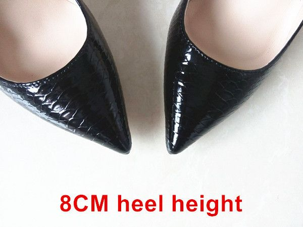 New Women Pumps Snake Pattern Pointed Toe High Heels White Shoes Luxury Designer Wedding Bridal Shoes Woman High Heels B-0046